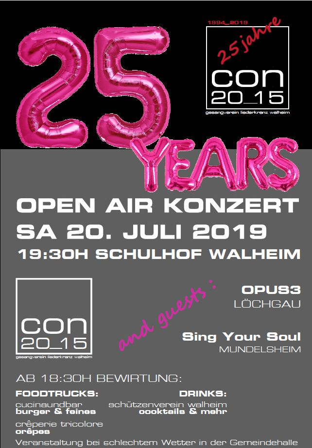 Open Air Konzert Walheim 2019